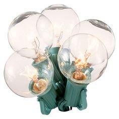 25Ct. Clear G40 Globe String Lights