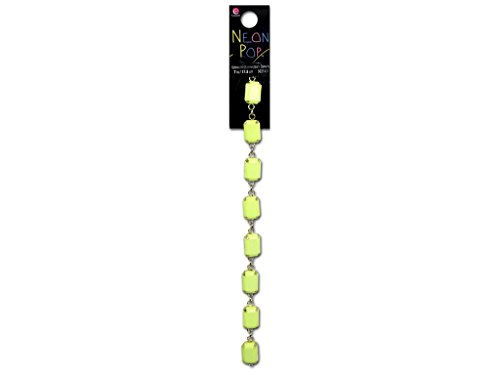Cousin COU30214513 Connector Rectangle Links Yellow Neon Pop Collection, 7""
