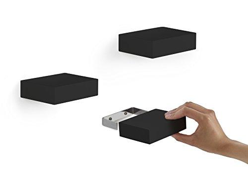 Umbra Showcase Display Shelves, Black, Set of 3