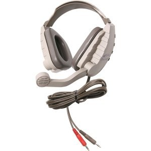 Califone Stereo Headphone W/ 3.5Mm Plug, Mic, Via Ergoguys<Br>Califone Stereo Headphone W/ 3.5Mm Plug Mic Via Ergoguys<Br>Stereo - Gray, Beige - Mini-Phone - Wired - 64 Ohm - Over-The-Head - Binaural - Ear-Cup - 6 Ft Cable - Electret, Noise Cancelling Mic