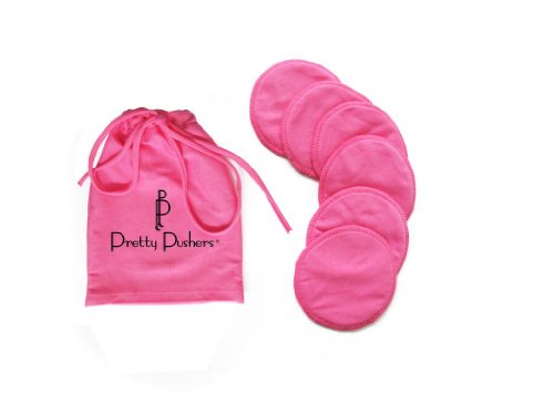 Pretty Pushers Women's Nursing Pad 6-Pack One Size Hot Pink
