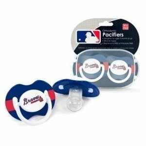 Atlanta Braves Mlb Baby Pacifiers (Set Of 2) front-982300