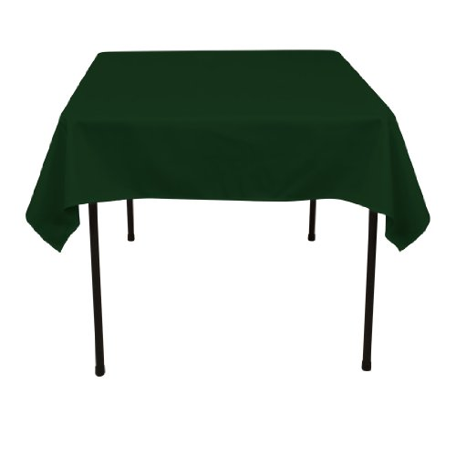 54 Inch Square Polyester Tablecloth Hunter Green