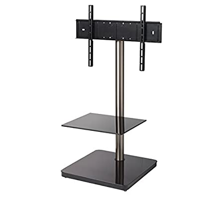 "B-Tech BTF800 60"" Portable Black - flat panel floor stands (Black, Portable flat panel floor stand, Glass, Metal, 152.4 cm (60""), TV, 30 kg)"