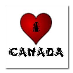 I Love Canada - 2 - 8x8 Iron On Heat Transfer For White Material