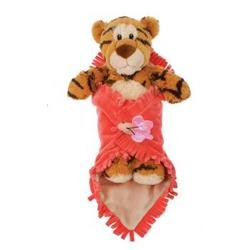 "11"" Tiger in Baby Blanket Plush Stuffed Animal Toy by Fiesta Toys - 1"