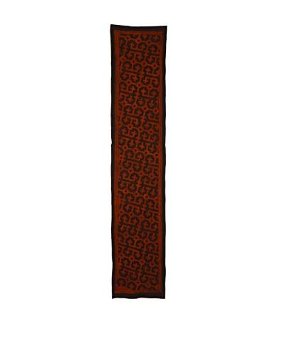 Uptown Down Found Peruvian Woven Table Runner, Red/Black