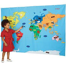 FAO Schwarz Big World Map