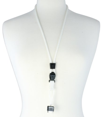 White iCat Neck it phone lanyard  detachable