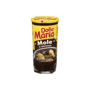 Dona Maria Mole Mexican Condiment Sauce 8.25oz Jar (Pack of 3)