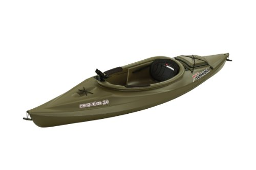 Sun-Dolphin-Excursion-Sit-in-Fishing-Kayak-Olive-10-Feet