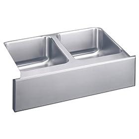 Elkay ELUHF3320 Gourmet Lustertone Undermount Sink, Stainless Steel