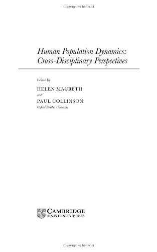 Human Population Dynamics: Cross-Disciplinary Perspectives