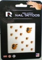 MLB Baltimore Orioles Nail Tattoos