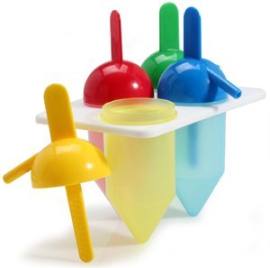 Danesco Silicone Ice Pop Molds, Set of 4