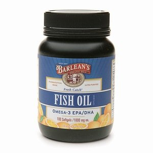 Barlean'S Organic Oils Fresh Catch Fish Oil Omega-3 Epa/Dha 1000Mg Softgels, Orange 100 Ea