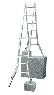 Krause-Gelenk-TeleskopLeiter-Alu-Arbeitshhe-635-mLeiternlnge-53-m-Sprossenanzahl-4x5-Gew-18-kg