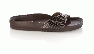 Cheap Tatami slippers Madrid in size 35.0 W EU made of Leather in Croco Brown with a regular insole (B005OI5GYI)