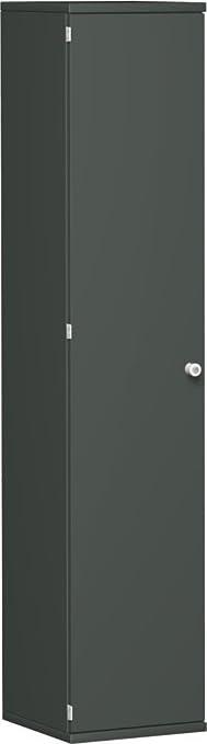 Ali porta armadio, ufficio in legno, 4decorazioni a ripiani, chiudibile a chiave, lucchetto destra, 400x 425x 1920, grafite/grafite, Gera mobili