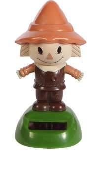 Solar Powered Dancing SCARECROW (Brown Outfit / Green Base) in Bubble Package - 1