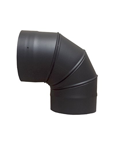 6in. X 90 Degree Adjustable Elbow for Single Wall Stove Pipe (6 Inch Stove Pipe 90 compare prices)