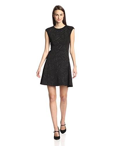 Julia Jordan Women's Textured Fit-and-Flare Dress