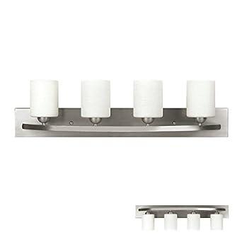 Brushed Nickel 4 Globe Vanity Bath Light Bar Interior Lighting Fixture