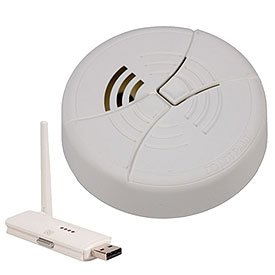 KJB Security C1253 Wireless Bottom View Smoke Detector Camera
