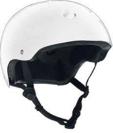 Adjustable Size Bike & Skateboard Helmet (White) (One Size Fits All Adjustable)