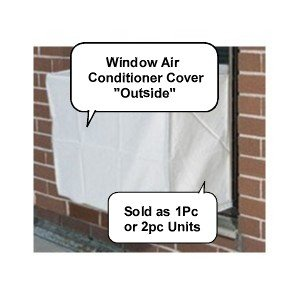 Outside Heavy Duty Window Air Conditioner Cover - PremierAcCovers - Window/thru Wall - Outdoor -28W, 20H, 20D - White (Window Type Air Conditioner compare prices)