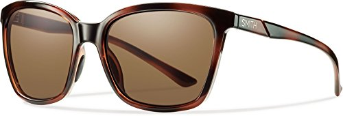 Smith Optics Colette Sunglass with Brown Carbonic TLT Lenses, Tortoise