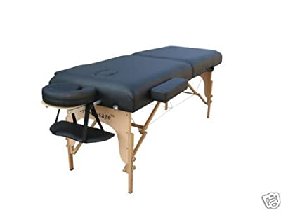 "3"" Pad Folding Portable Massage Table MT-D5-7-Black"
