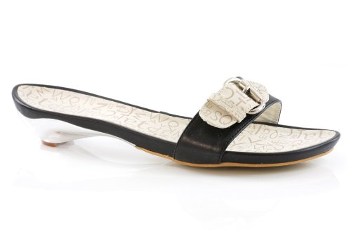 Image of Unze Women Buckle Detailing Open Toe Printed Summer, Casual, Day, Beach Party Slipper - 9ta586-13 (B0043I14UK)