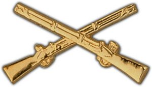 US Army Crossed Rifles Infantry Badge Lapel Pin