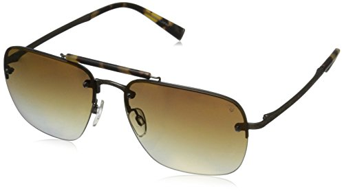John-Varvatos-Mens-V511-V511BRO60-Rectangular-Sunglasses-Brown-60-mm