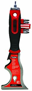 Task Tools T37971 15-in-1 Painter's Tool with  FlexFit Grip and  Hammer Cap