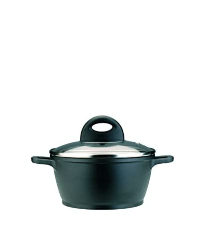 BergHOFF CookNCo 1.2-Qt. Cast Covered Casserole, Silver/Black