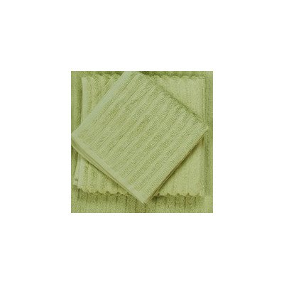 Bamboo Dreams Organic Cotton Ribbed Towels Color: Green Tea, Size: Wash Cloth