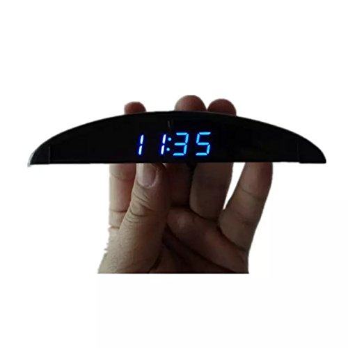 Goliton Ultra-thin Car Onboard Electronic Clock Voltmeter Voltage Meter Thermometer Temperature Meter (Car Led Digital Clock compare prices)