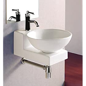 ELITE SINKS EC9818 Porcelain Vessel Deep Bowl Sink