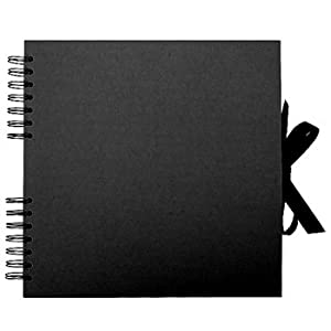Markdowns Office Furniture Amazon.com: Paperchase Black Kraft Square Scrapbook with Black Pages