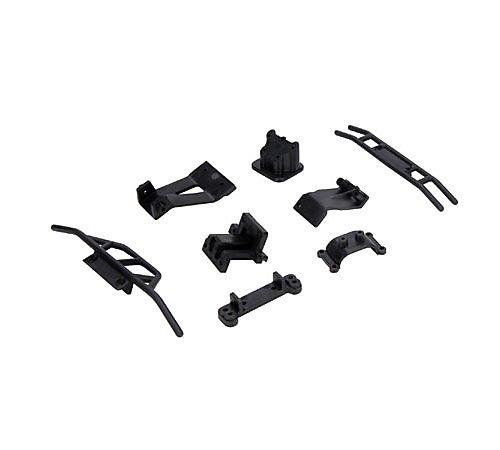 Team Losi B1074 Front/Rear Bumper and Mount/Support Set: MHRL - 1