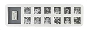 Baby Art - Marco para fotos recuerdo del primer año y huella de mano o pie
