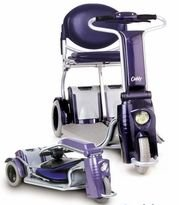 Caddy Folding Travel Electric Mobility Scooter – Blue