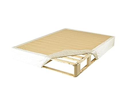 """Nature's Sleep KD Mattress Foundation - All Wood, Quilted Slip-on Cover, 9"""" Height, Holds Up To 2,000 lbs, CA King Size - 130070"""