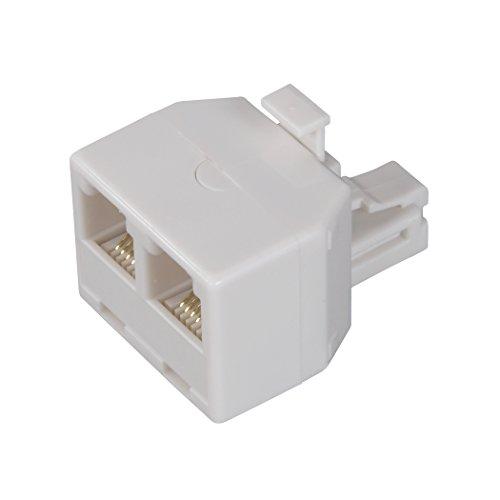 amertac-zenith-ts1001spj2w-ts1001spj2w-6-conductor-duplex-jack-white-landline-telephone-accessory