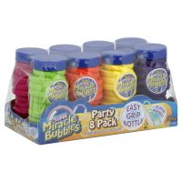 Super Miracle Bubbles 8 Count, 4 Fl Oz Bottles, with Wands Party Pack from Imperial Toy LLC
