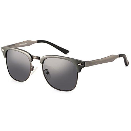 wayfarer metal frame  Dollger Classic Wayfarer Sunglasses Clubmaster Style Metal Frame ...