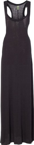 Alternative Women's Racer Back Maxi Dress, Eco True Black, Large