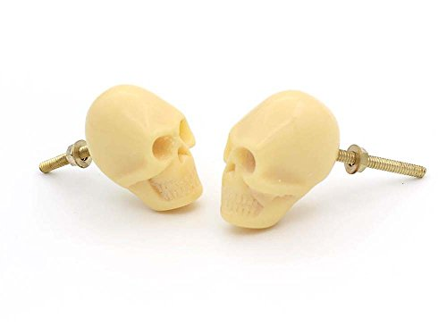 Skull Drawer,Cupboard,Handle Knob Set of Two (Gothic Knobs compare prices)